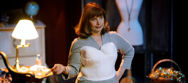 "Peggy Sampson plays the role of Nora in ""Cups,"" a Lawrence Community Theatre production that tells a woman's life story through her bras."