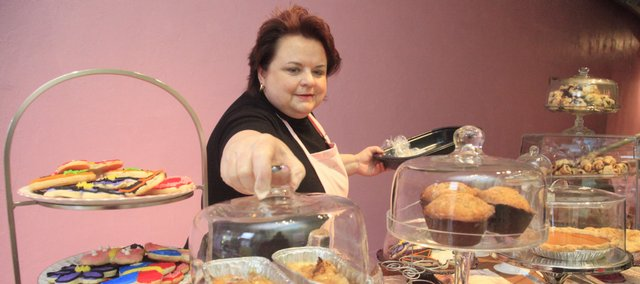 Michele Kaminski recently opened The Pink Box Bakeshop, 727 Mass., serving up small batches of pastries. The former marketing executive decided to open the bakery after building a customer base at the Lawrence Farmers' Market, where she first sold her sweets.
