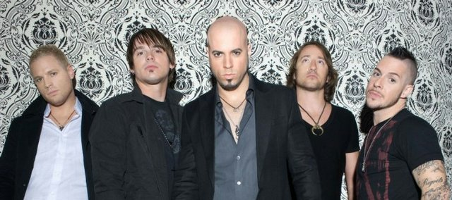 "The band Daughtry, led by former ""American Idol"" standout Chris Daughtry, top left, kicks off its 2009 tour in Topeka."