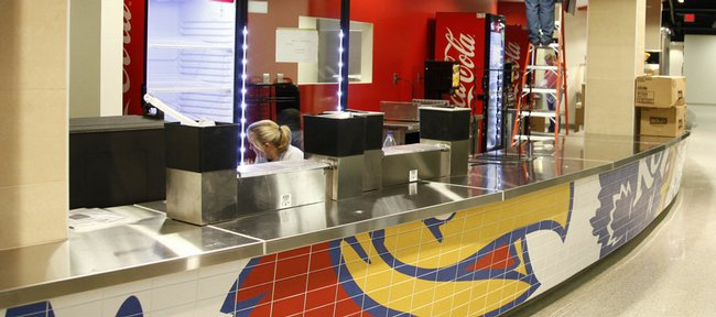 The concessions area on the north side of Allen Fieldhouse.