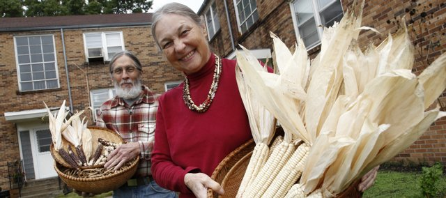 Dianna Henry and her husband, Jerry Sipe, would like to see more people saving their own seeds to help provide for themselves. They are among participants of the Kaw Valley Seeds Project.