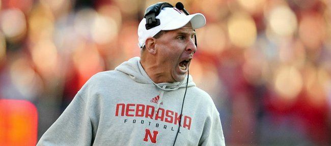 Nebraska football coach Bo Pelini disputes a call during the Huskers' 31-10 loss to Texas Tech on Saturday in Lincoln, Neb.