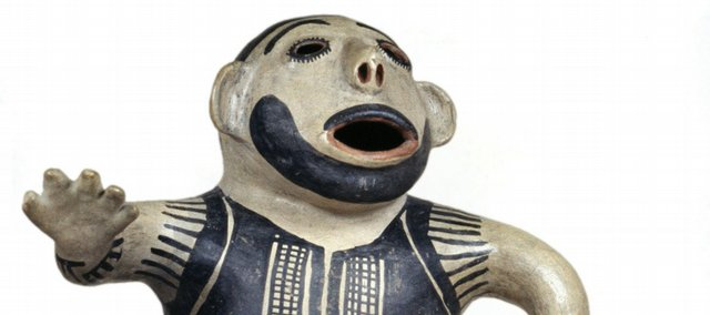 A figure made by an unknown artist from the Cochiti Pueblo people is among the exhibits on display in the new American Indian Galleries at the Nelton-Atkins Museum of Art in Kansas City, Mo. It is on loan from the collection at Kansas University's Spencer Museum of Art.