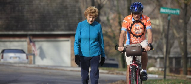 Rita and Joe Spradlin, of Lawrence, live an active lifestyle. Rita, 79, walks four to six miles a day, and Joe, 80, bikes 30 miles per day.