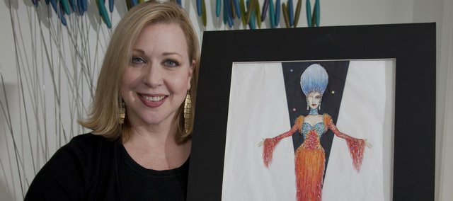 "Lawrence resident Julie Lesnikowski, owner of Jordan Ross Designs, creates outfits for cruise ship productions. She has produced many designs for past shows, including a version of ""Hairspray."""