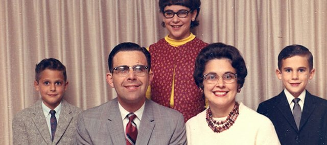 The Brady family in 1968: (from left) Tom, Merris, Beth, Barbara and Tim.