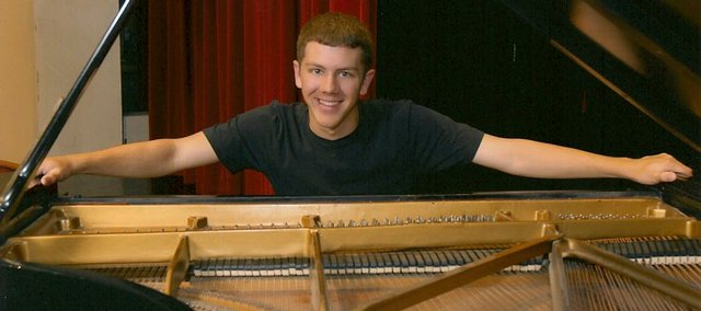 "Addison Frei is a ""an incredible, blow-you-away jazz pianist,"" says Mike Jones, Lawrence High School band director."