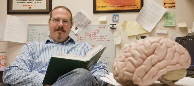 KU assistant professor of psychology David Johnson conducted a study comparing the decline of different kinds of memory. He found that Alzheimer's affects certain areas of the brain much earlier than previously thought.