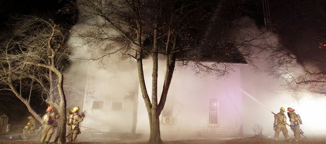 Fire crews were called to a house fire at 17th and Tennessee streets Monday night shortly before 10:00 p.m.