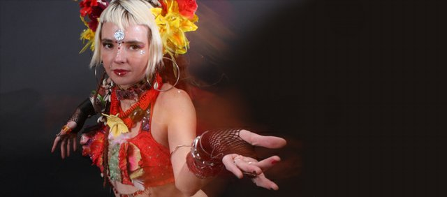 Amber Proctor, local belly dancer, performs Thursday at the Jazzhaus.