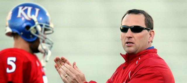 Former Kansas receivers coach David Beaty, right, will return to the KU coaching staff in 2011.