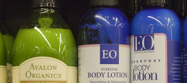 Community Mercantile sells a variety of organic and natural lotions and cosmetics.