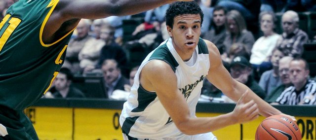 Colorado state guard Dorian Green, right, races past University of San Francisco defender Dontae Bryant in this Nov. 29, 2009, photo taken at Moby Arena in Fort Collins, Colo.