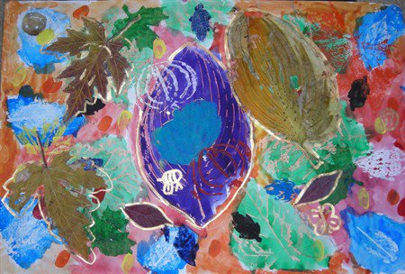 Artwork by Evondi Weston, fifth-grader, Cordley School. Artwork shown has been uploaded by Lawrence art teachers to Artsonia, an online gallery that lets families access their children's work and share with others via a set of privacy controls. It also raises money for school art programs.