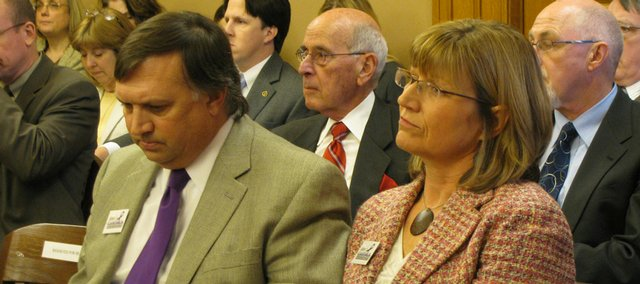 A bill was heard Monday that would expand the definition of domestic violence crimes, and seeks to better identify offenders. Christie Brungardt, the mother of Jana Mackey, who was murdered in 2008 in Lawrence, and Mackey's stepfather Curt Brungardt, were on hand to testify on the bill before the House Corrections Committee. Mackey was slain by Adolfo Garcia-Nunez, who was later arrested in New Jersey in connection with Mackey's death, and committed suicide in a holding cell.