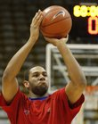 Kansas forward Xavier Henry pulls up for a shot during warmups before tipoff against Colorado, Wednesday, Feb. 3, 2010 at the Coors Event Center in Boulder.