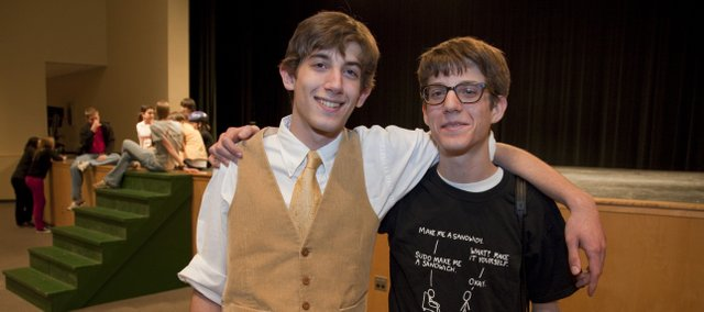 Twin brothers Ben (left) and Nate Rosenbloom are actively involved with the drama department at Free State High School.
