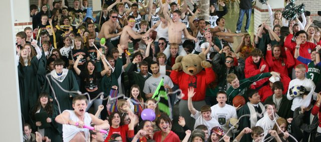 "Free State High School students take part in a school-wide ""lip dub."""