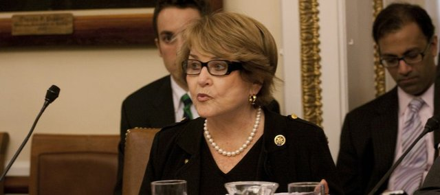House Rules Committee Committee Chair Louise Slaughter, D-N.Y., at the beginning of the committee meeting today to discuss the health care legislation on Capitol Hill in Washington.