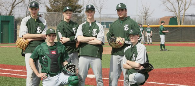 Free State seniors, from left, Ryan Scott, Adam Petz, Nick Hassig, Connor Stremel, Michael Lisher and Hayden Emerson hope to help the Firebirds contend for a state title this season.