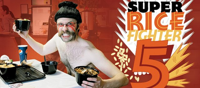 Writer Gavon Laessig is Super Rice Fighter 5.