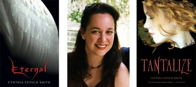 """'Eternal' writer Cynthia Leitich Smith and two of her books. """"Eternal"""" hit No. 5  on The New York Times young adult best-sellers list a couple weeks ago."""