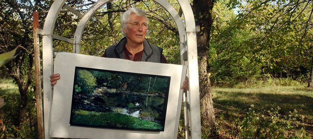 "Robert Sudlow, pictured in this June 2002 file photo, has died. A nationally acclaimed landscape artist, he taught at Kansas University for 40 years. Tom Russell, Baldwin City, a longtime artist friend, says Sudlow was ""just a very likeable guy. We talked about everything."""