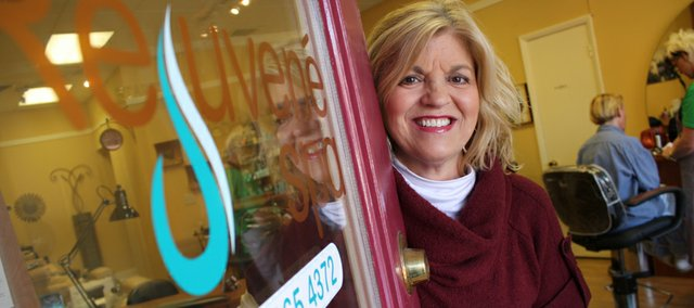 Marcia Butell is the owner of Rejuvene Day Spa, 13 E. Eighth St. The spa moved downtown last month, citing the affordability of downtown real estate in a down economy.