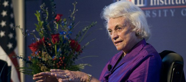 The Honorable Sandra Day O'Connor speaks Monday at the Dole Institute of Politics.