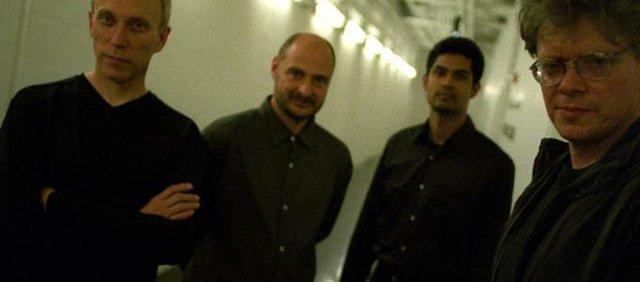 The Kronos Quartet. David Harrington is at far right.