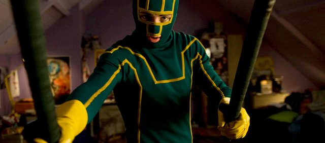 "Mark Millar's violent comic tale of wannabe superheroes is adapted by writer-director Matthew Vaughn in ""Kick-Ass."" Aaron Johnson stars as a teen who steps out of his house one day with a mask and a painted baseball bat and starts to fight crime even though he has no superpowers."