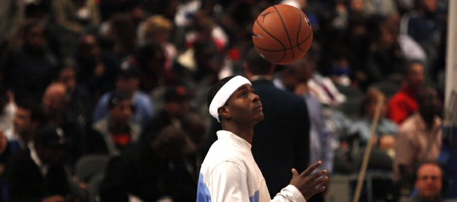 Kansas recruit Josh Selby warms up prior to the start of the Jordan Brand Classic Saturday, April 17, 2010, at Madison Square Garden.