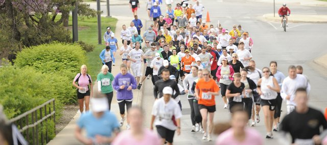 More than 1,500 runners competed in various races from Shenk Field at 23rd and Iowa Sunday, April 18, 2010 during the Lynn Electric Kansas Marathon.
