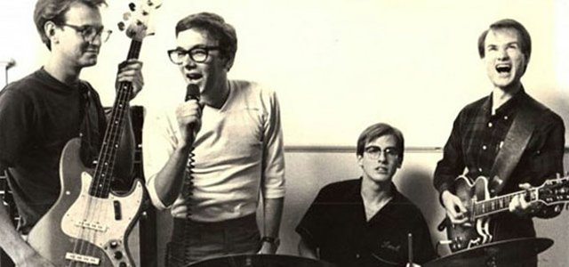 An early &#39;80s publicity photo of The Embarrassment. From left: Ron Klaus, John Nichols, Brent Geissmann and Bill Goffrier.