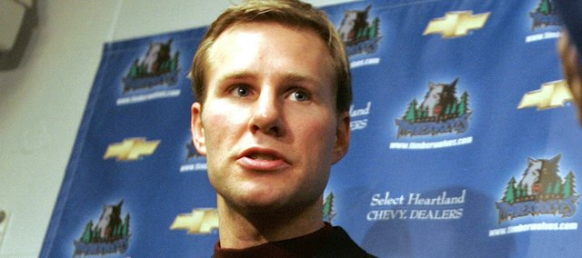 Former Iowa state basketball player Fred Hoiberg speaks to reporters in Minneapolis in this 2006 file photo. Hoiberg has been hired as the Cyclones' head coach.