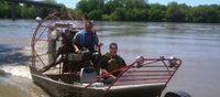 Officers apprehend suspect after pursuit down Kansas River