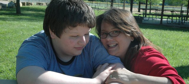 Mother's Day has special meaning for Bonner Springs mom Leia Holley and her son Sean, who suffers from autism. Holley also has another son, JP, who suffers from dyslexia. Holley said parenting was a balance of taking care of her children and finding time to take care of her mental and physical well-being.