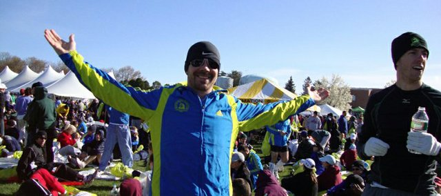 Tyson Willoughby, assistant manager at Garry Gribble's Running Sports, 839 Mass., combined fitness with pleasure when he dedicated vacation time to run the 114th Boston Marathon. Wellness tourism is on the rise, according to local travel agents.