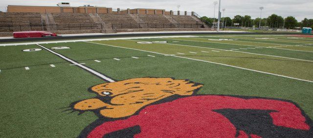 The new football stadium at Lawrence High School is undergoing construction to finish the athletic complex, but a new city inspection questions if the construction matches the plans the city approved.