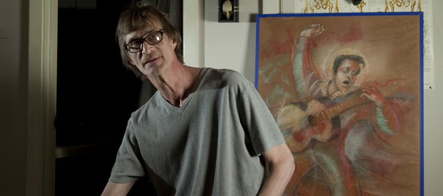 Artist Greg Volpert, Lawrence, is fighting pancreatic cancer, which has slowed him from working in his studio apartment.