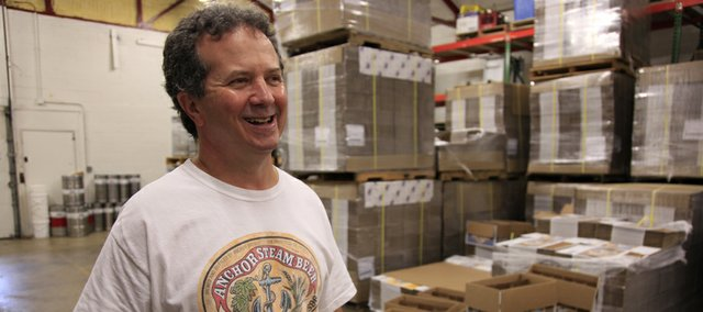 Chuck Magrel, is all smiles as years of work and making beer have seemingly paid off. In addition to the iconic Free State Brewery in Downtown Lawrence, Magrel is also involved with Wheatfields Bakery and he is now launching bottled versions of the popular Free State Beer around Kansas.