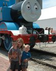 "Jennifer Messick, Kansas City, Mo., and her sons, Brendan, 4, and Nicolas, 2, enjoyed ""A Day Out With Thomas"" on Friday in Baldwin City. It was their first-ever visit to the annual event."