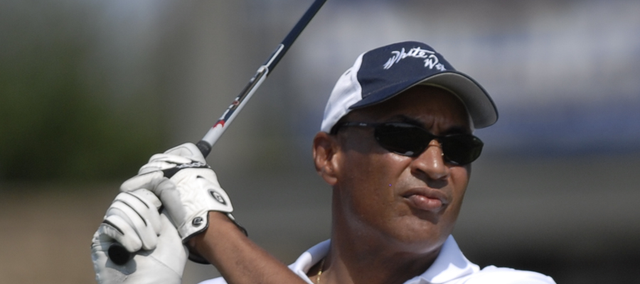 Bud Stallworth plays a round of golf in this 2007 file photo. He will be the featured speaker for the Dad Days events kickoff at 5 p.m. June 14 at Lawrence Public Library, 707 Vt.