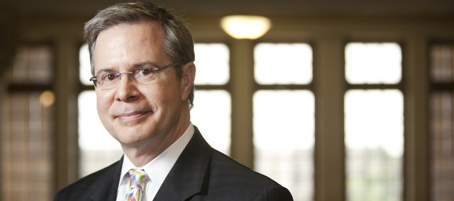 Provost Jeffrey Vitter has been the leader of Kansas University's cutback evaluation process, which he acknowledged on Monday will include some cutbacks in personnel.