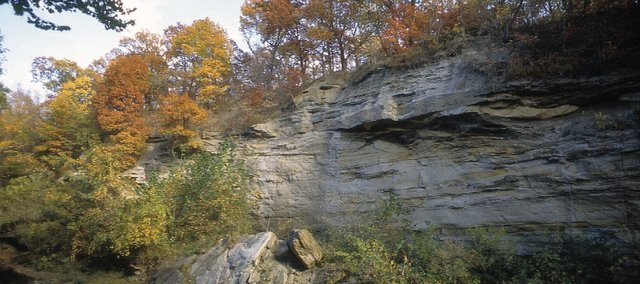 Echo Cliff, near Dover, in eastern Wabaunsee County.