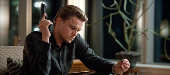 "Leonardo DiCaprio stars as an expert in the world of corporate espionage who steals secrets from the minds of those who are dreaming in ""Inception."""