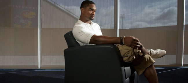 Former Kansas University safety Darrell Stuckey was back in town to receive an award in Kansas City and meet with the media Thursday in Lawrence. Though he's a member of the San Diego Chargers and can claim a big bank account, Stuckey doesn't seem to have changed much from his college days.
