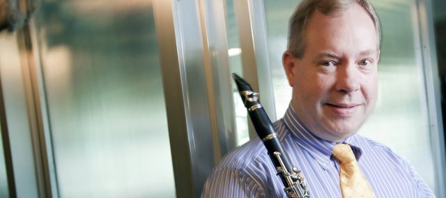 Robert Walzel, new dean of Kansas University's School of Music, is pictured in Murphy Hall, KU campus.