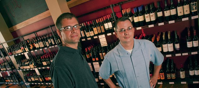 Steve Wilson and Jamie Routledge are co-managers of City Wine Market, 4821 W. Sixth St., which carries a selective inventory of value-priced wines.