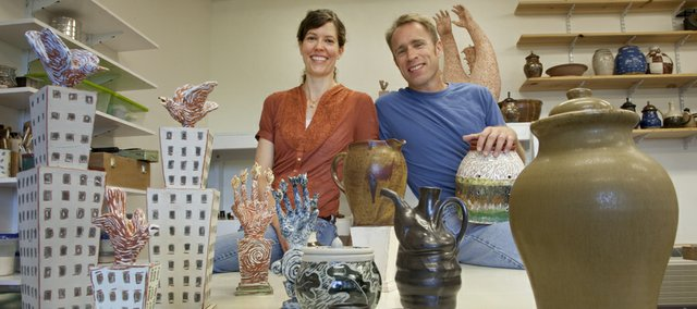 Pharmacist Melissa McCormick and her husband, Lawrence firefighter Ed Noonen, have returned to their first love, art, which they both studied as KU students in the early '80s. The two have a home studio and are working at getting their new hobbies off the ground when not at their full-time occupations.